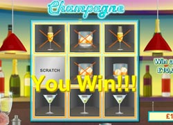 scratch card champagne